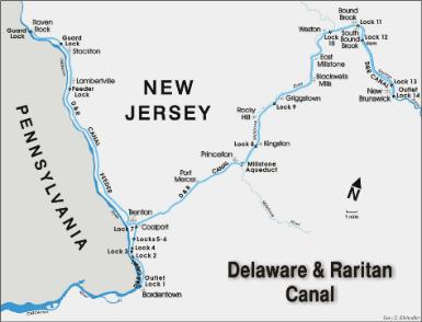 D&R Canal Map