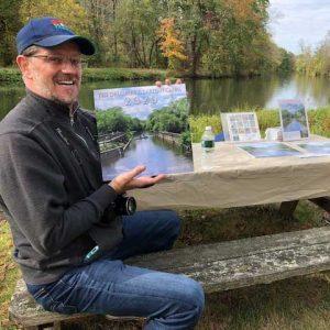 Photographer Todd Murphy shows the calendar